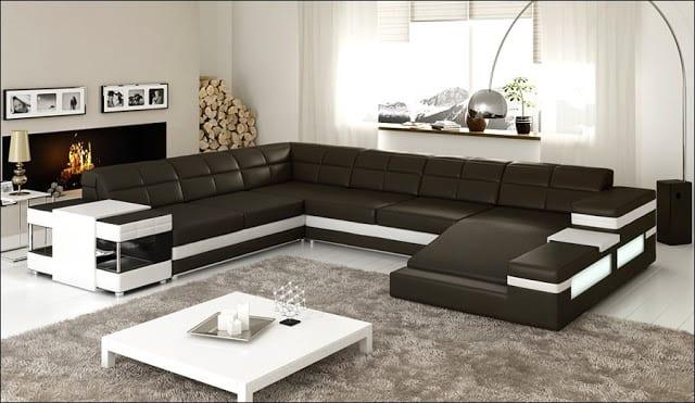 sofa bọc da cho nhà ở
