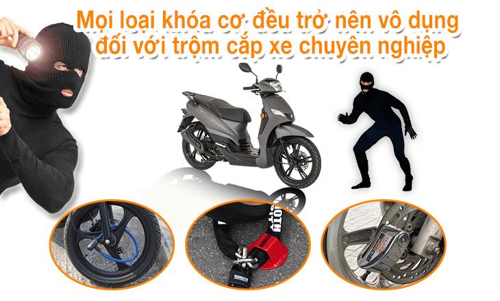 khóa chống trộm cho xe máy
