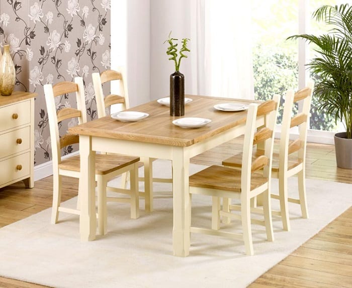 bàn ăn bằng gỗ hiện đại