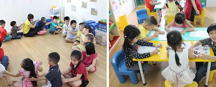 trường mầm non dân lập chuyên giữ trẻ từ 9 tháng tuổi