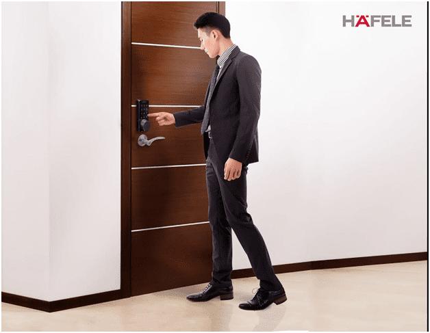 khóa cửa điện tử nhập khẩu Hafele