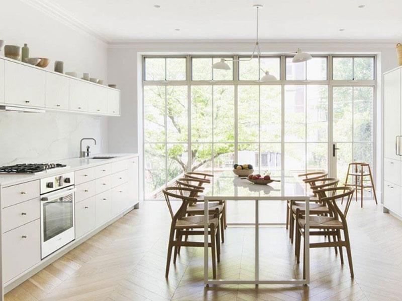 thiết kế nhà bếp phong cách tối giản hiện đại